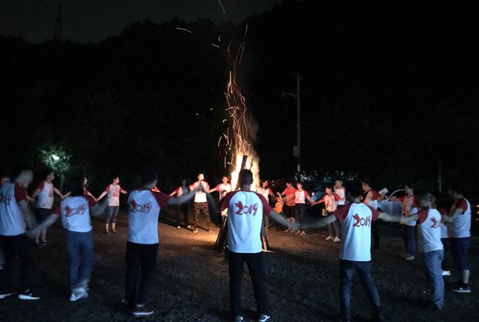 旗山水磨坊篝火晚会