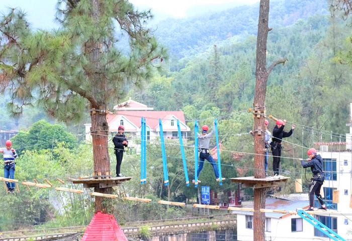 旗山水磨坊树上攀爬